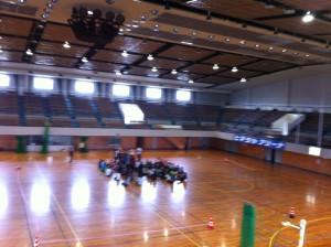 岐阜市 卓球会場の体育館