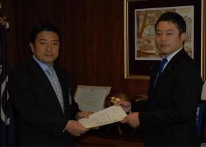 高野市長へ要望書を提出致しました。